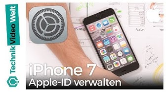iPhone 7 Apple-ID verwalten und bearbeiten