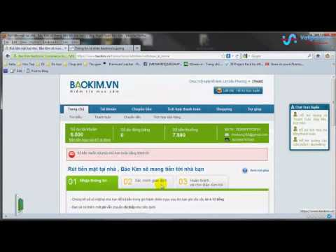 Hướng dẫn rút tiền từ tài khoản Baokim.vn