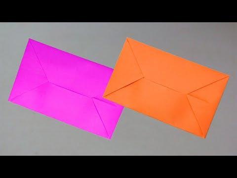 Easy Origami Envelope Tutorial - Paper Envelopes DIY Paper Folding