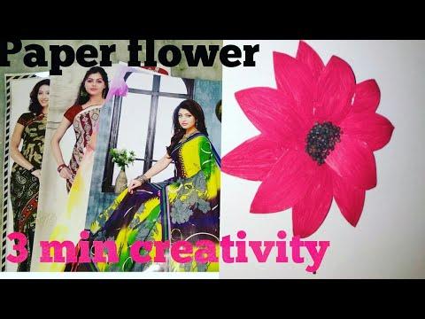 Easy beautiful paper flower making DIY Paper flower craft Very Easy DIY Craft