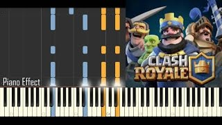 Clash Royale - Battle Theme  (Piano Tutorial Synthesia)