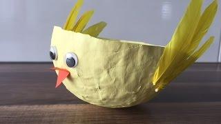 DIY Küken Osterkörbchen basteln, mit und für Kinder, Ostern