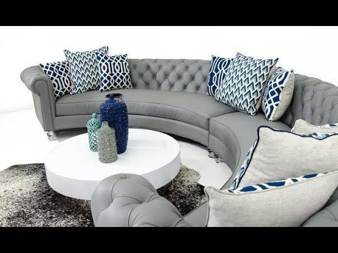 circular couches living room furniture cubes semi sofas sectionals youtube