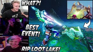 Tfue & Streamers React To The ROBOT VS MONSTER Event! Biggest Event In Fortnite HISTORY!