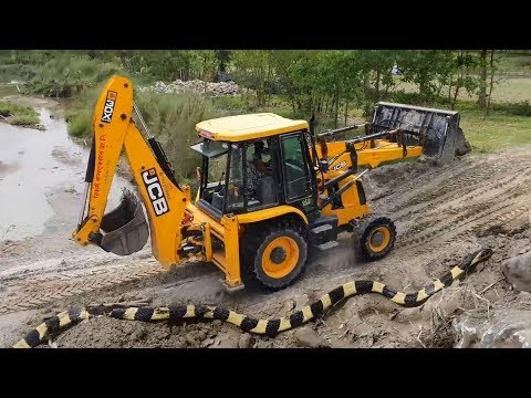 Camera Capture Snake in JCB Working Place