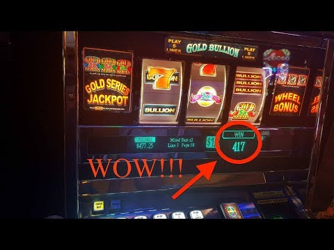 Night at Four Winds Casino - Winning - Sky Wheel and Gold Bullion Slots