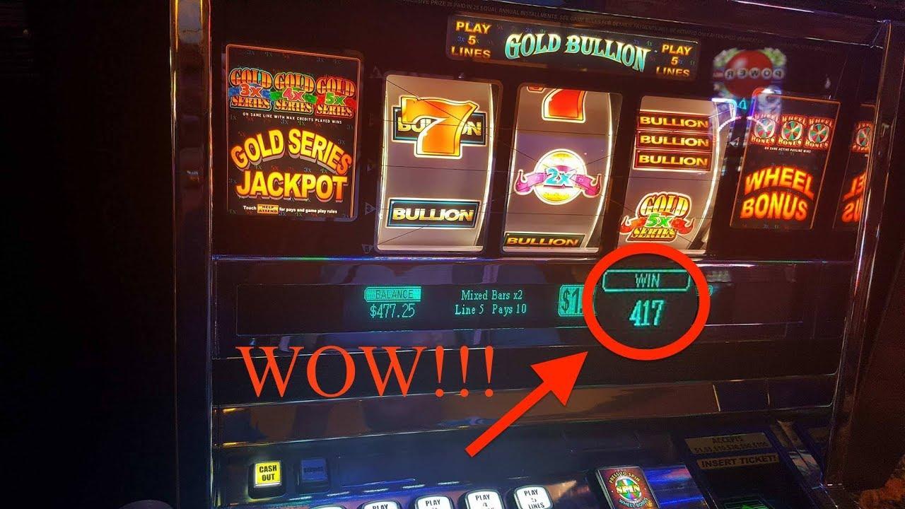 Ags gold bullion slot machine sugarhouse casino poker room review