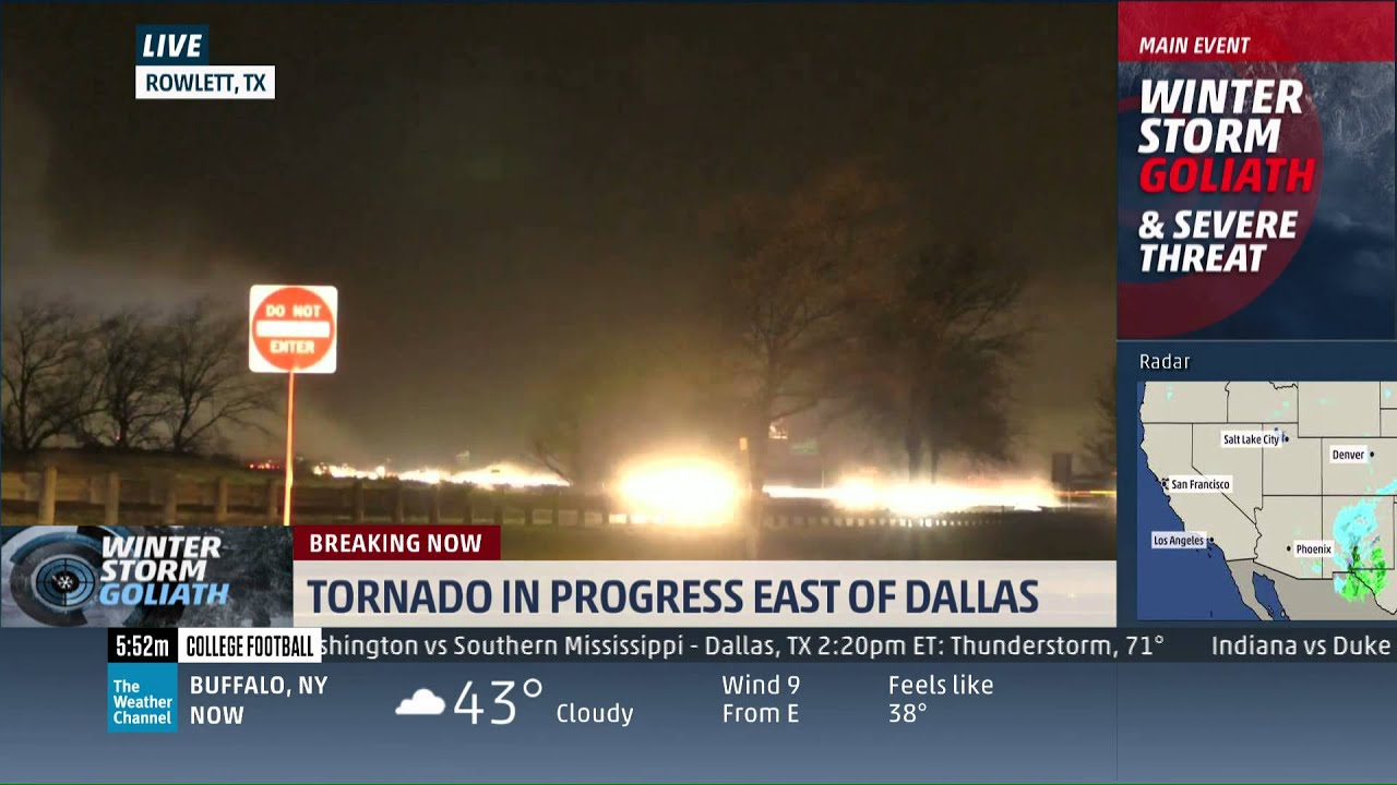 rowlett  tx tornado live on the weather channel 12