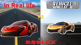 Vehicle Simulator vs In Real Life Vehicles Comparison! - Roblox Vehicle Simulator | 4K
