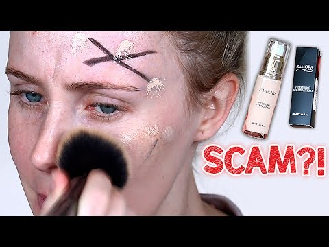 Thumbnail: SCAM OR SUCCESS?! Viral Sharpie Foundation Video TESTED! | Lauren Curtis