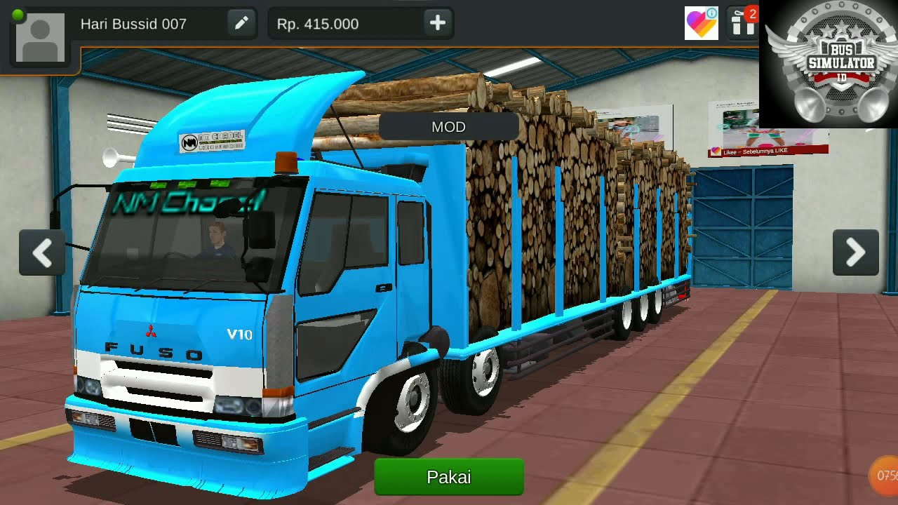 Cara Pasang Mod Truck Fuso Di Bus Simulator Indonesia Bussid Youtube