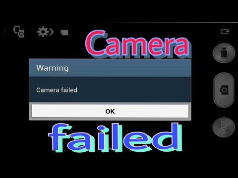 How to fix camera failed error in samsung mobiles