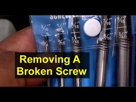 How to remove a screw that is broken off, using an easy out screw extractor - VOTD