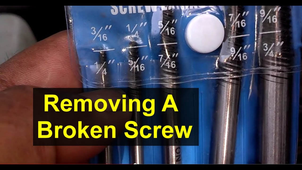how to remove a screw that is broken off using an easy out screw extractor votd youtube. Black Bedroom Furniture Sets. Home Design Ideas