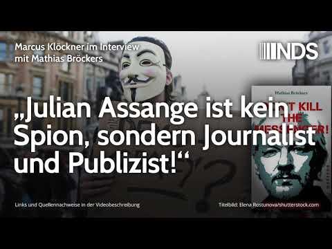 """Mathias Bröckers: """"Julian Assange ist kein Spion, sondern Journalist und Publizist!"""""""