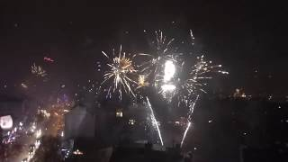 Silvester-Feuerwerk, Hamburg, Reeperbahn (01.01.19)
