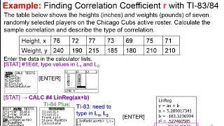 Elementary Statistics - Chaṗter 10 Correlation and Regression