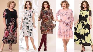 ЛЕТНИЕ ПЛАТЬЯ В ЦВЕТОЧЕК Белорусский трикотаж Женская одежда больших размеров 2020