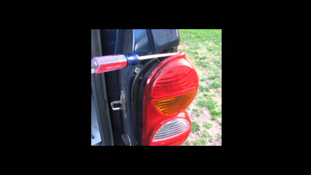2004 Jeep Liberty Tail Light Change Youtube