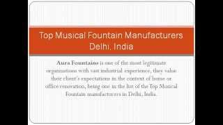 Top Musical Fountain Manufacturers Delhi, India