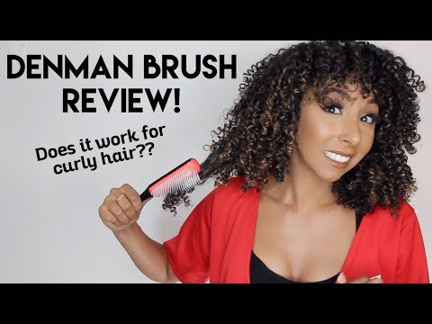 Denman Brush Review! Is It Good For Curly Hair?? | BiancaRen