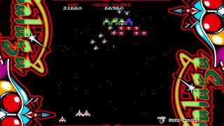 Galaga gameplay on PS4