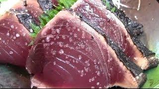 かつおのタタキ定食が旨い 道の駅なぶら土佐佐賀 カツオクジラ 検索動画 22