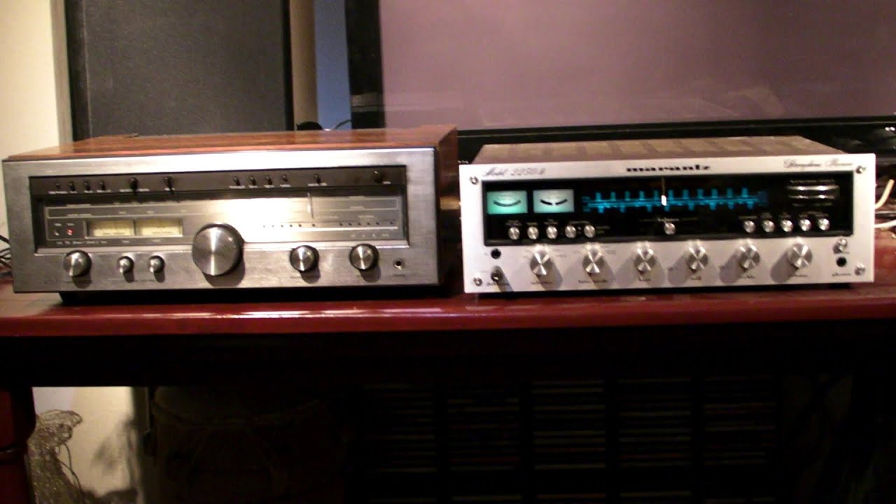 Luxman R-1050 vs marantz 2250b sound test- ear test with headphone - YouTube