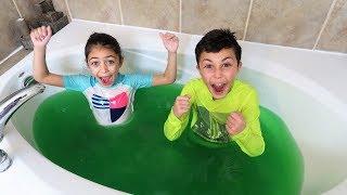 Last To Leave Slime Hot Tub Wins $1,000 Challenge