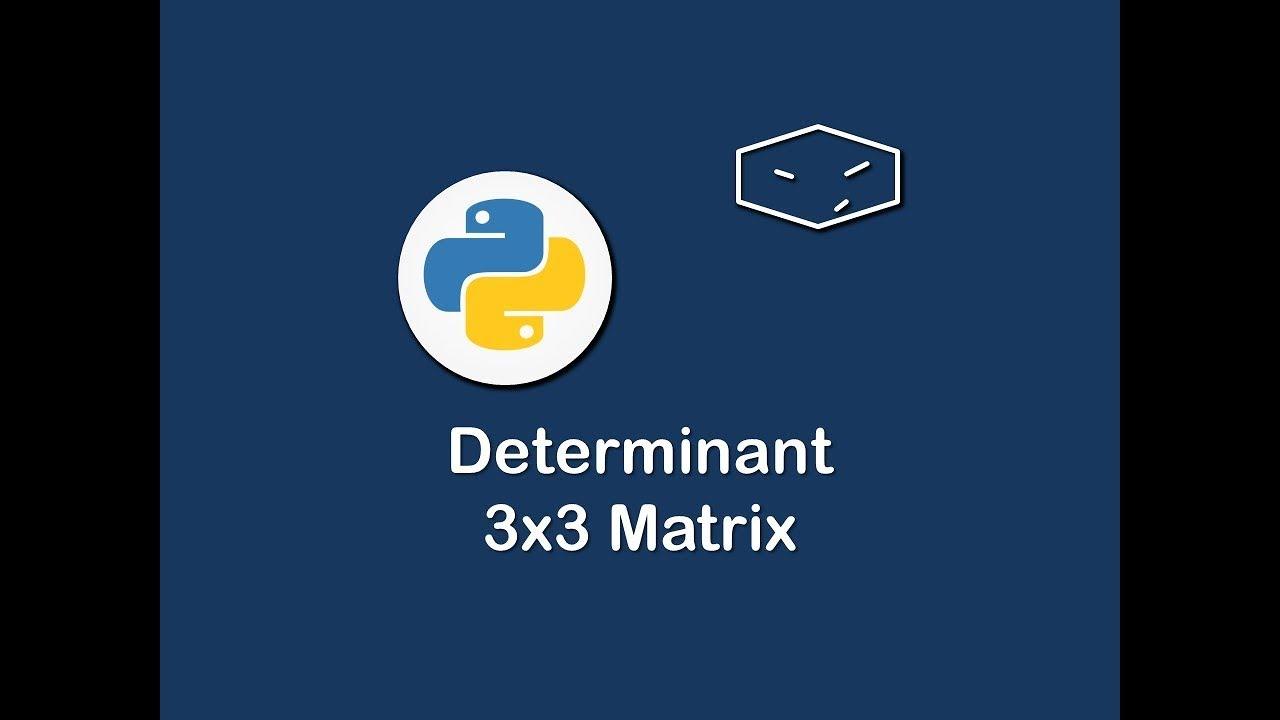 determinant 3x3 matrix in python