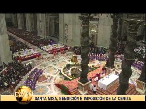 Ash Wednesday from Rome- 2013-02-13-  Pope Benedict XVI's Final Mass