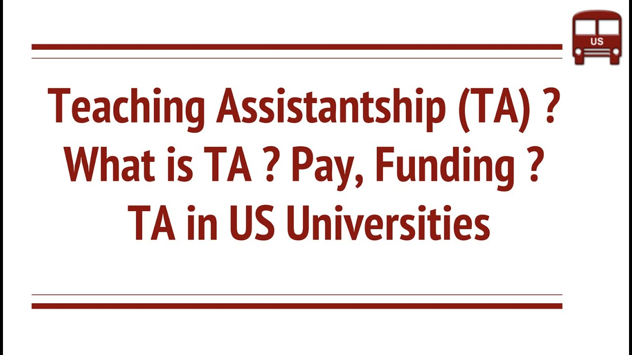 Funding types in US Schools - TA, GA and RA ? Paid Money