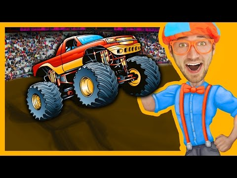 Thumbnail: Monster Trucks with Blippi Toys | Monster truck Song for Kids