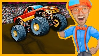 Monster Trucks with Blippi Toys | Monster truck Song for Kids