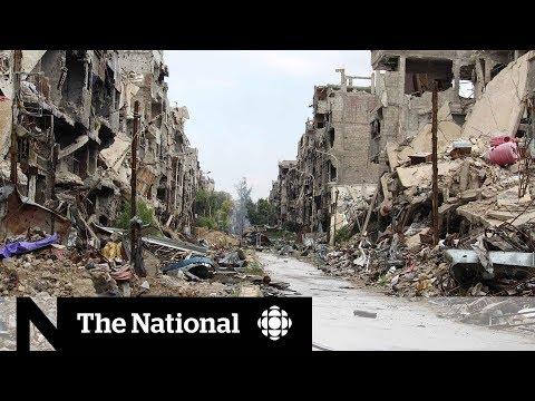 Rare access inside war-torn Syria