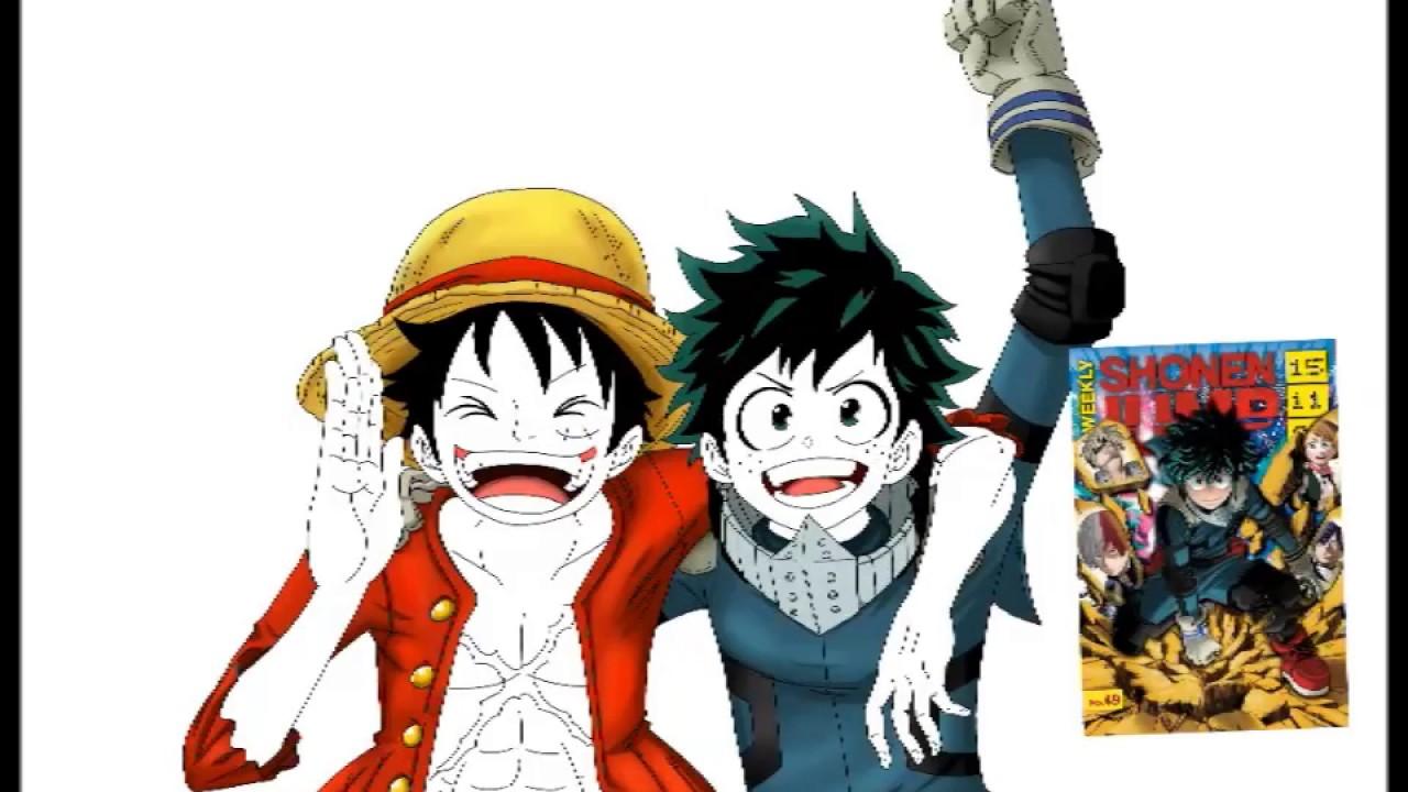 My Hero Academia Wallpaper Iphone X Speedpaint Deku Midoriya And Monkey D Luffy Youtube