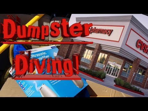 Dumpster Diving! CVS Pharmacy Dive And Party Store!