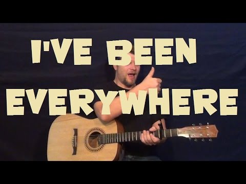 I've Been Everywhere (Johnny Cash) Easy Strum Guitar Lesson How to Play Tutorial