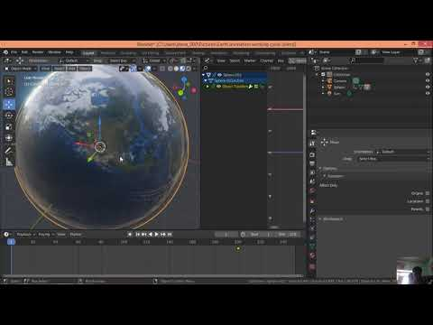 Google Earth Globe animation with map of Nepal - Blender easy earth animation of Nepal like moomin