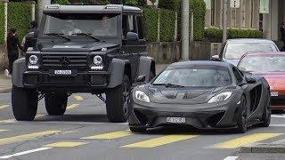 Supercars in Zürich Vol.111 - (2x Aventador, New AMG GTC, 2x F12, Tuned McLaren MP4 & 650s)