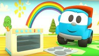 Zeichentrick für Kinder 🚚 Leo der Lastwagen baut einen Backofen 💡 Zeichentrickfilme auf Deutsch