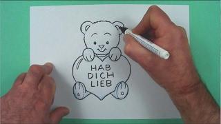 Wie Zeichnet Man Einen Gruss Zum Valentinstag ? Zeichnen
