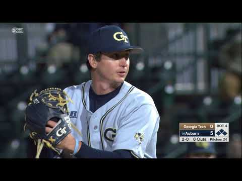 Auburn Baseball vs Georgia Tech Highlights