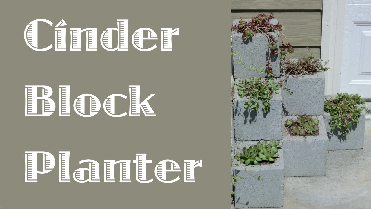 Cinder Block Step Planter - YouTube