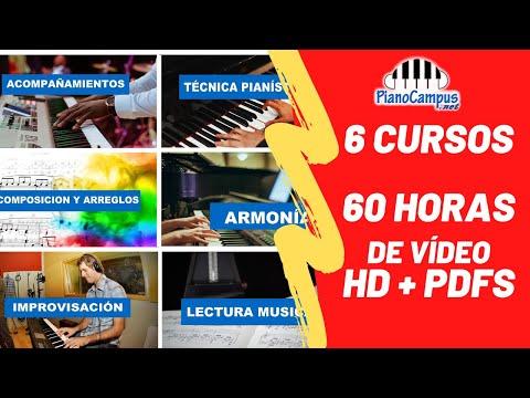 Cursos De Piano Online Para Estudiar En Línea Por Internet  | 6 Cursos 60 Hs De Vídeo HD Y PDFs