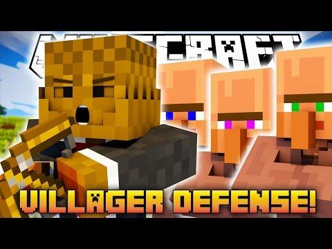 Minecraft Villager Defense (WAVE ROUNDS)