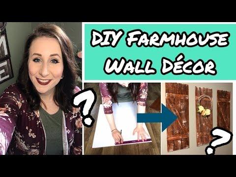 DIY Farmhouse Wall Decor   Dollar Tree DIY   Foam Board Faux Wood Decor