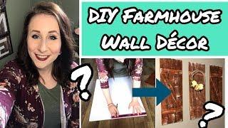 DIY Farmhouse Wall Decor | Dollar Tree DIY | Foam Board Faux Wood Decor