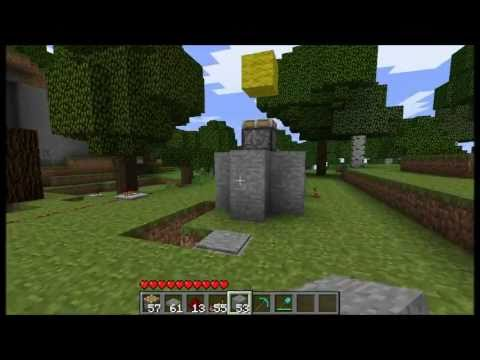 Minecraft pistons pop up house youtube for Popup house youtube