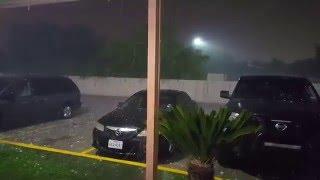 Severe Hail storm San Antonio. Weather. Storm.  4/12/16